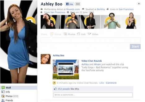 Faux Avatar Advertising - The Ashley Boo Campaign is an Interactive Facebook App
