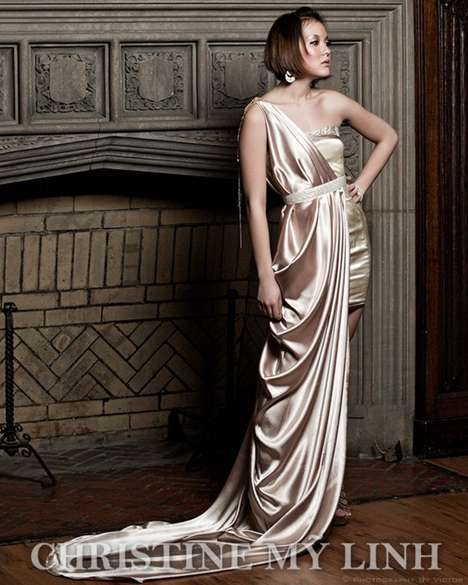 Roman Goddess Couture - Christine My Linh Brings Elegance to Period Fashion