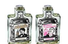 Cartooned Booze Packaging - Charles S. Anderson Design Gives Brand X Liquor a Pop-Art Feel