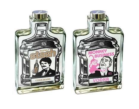 Cartooned Booze Packaging
