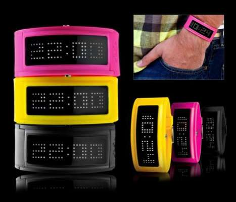 Color-Popped LED Watches