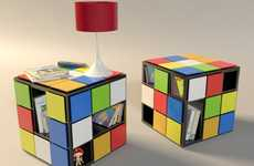 Strategy Game Storage - The KUB+ Coffee Table Brings Rubik's Cube Solving to Surfaces