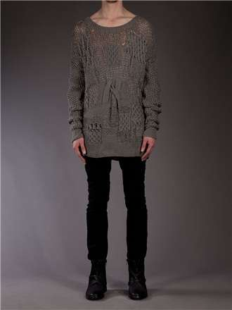 The Oversized Patchwork Jumper by James Long is a Mash-Up of Patterns