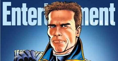 Elected Comic Book Characters - The Governator is a Comic Book Featuring Schwarzenegger