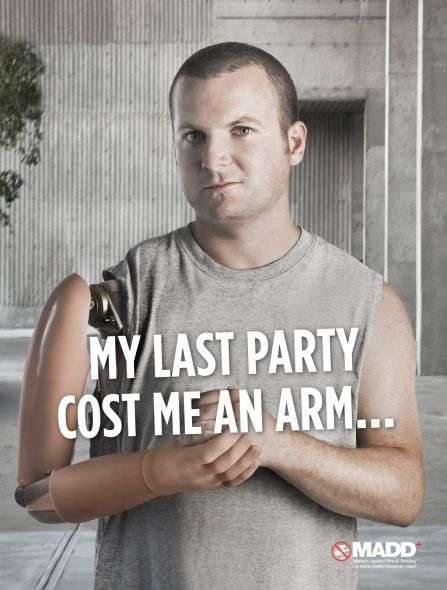 Prosthetic Life Lessons - The Latest MADD Campaign Gets Up Close and Personal
