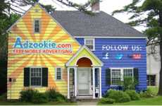 Advertising on Abodes - Mobile Marketing Company Adzookie is Looking to Turn Houses into Billboards
