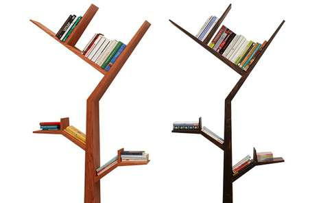 Bough-Burgeoning Bookcases
