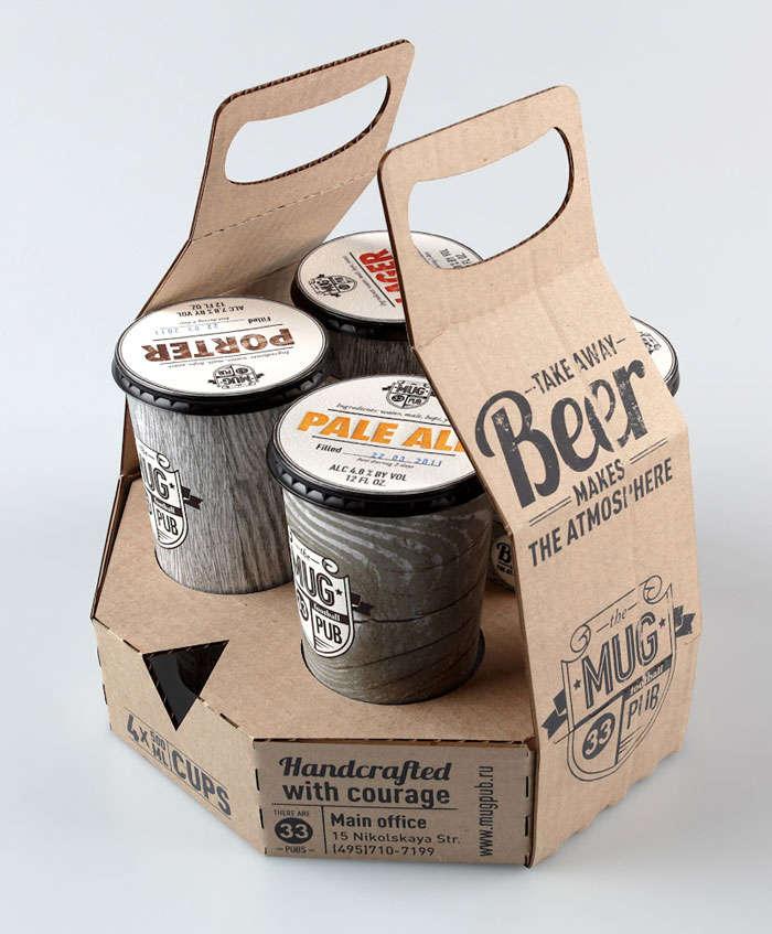 Cardboard Beer Branding Mug Pub By Ivan Maximov