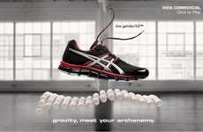 Floating Footwear Ads - The ASICS Levitation Video Shows You the Shoe's Ability to Battle Gravity