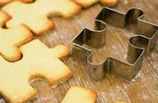 Puzzling Confectionery-Cutters - Jigsaw Puzzle Cookie Cutters Make Creative and Interactive Treats