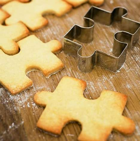 Jigsaw Puzzle Cookie Cutters Make Creative and Interactive Treats
