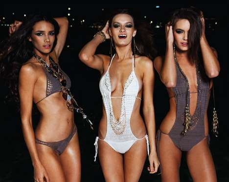 Coquettish Crocheted Swimwear
