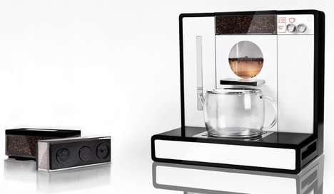 Hi-Tech Tea Brewers - The Tesera Teemachine is a Super-Sleek Teapot to Serve at a Tea Party