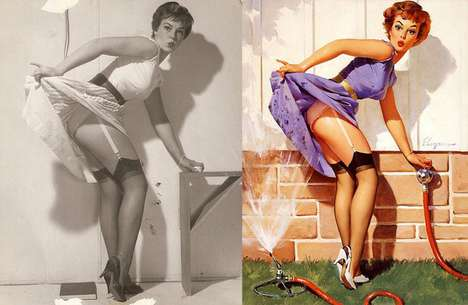 Vintage Photo Edits - These Pre-Photoshop Pinup Girls by UlkaCurl are Eye Openers