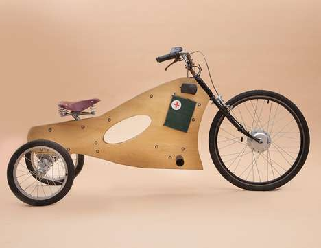 Wooden Eco Trikes - Fernando Ponce's Electric Bi-Directional Tricycle is just Amazing