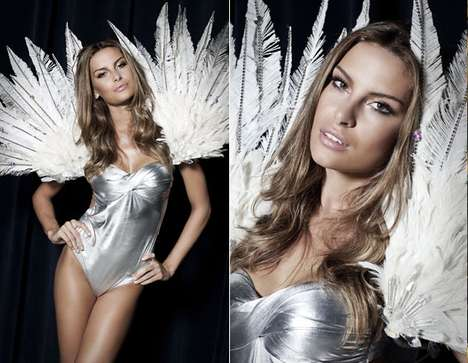 Winged Lingerie Runways - The Monange Dream Fashion Show is Sizzlingly Angelic
