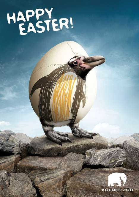 Animalesque Easter Ads - Preuss und Preuss Make Eggstravagant Posters for the Kolner Zoo