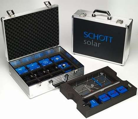 Solar Suitcases - Schott Solar's Suitcases are Specially Designed for School Students