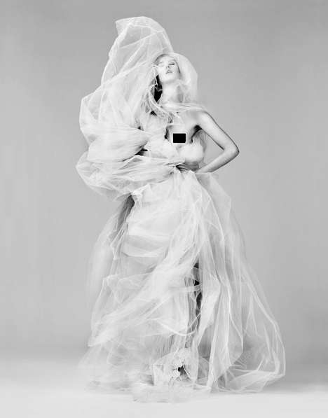 Voluminous Veiled Gowns
