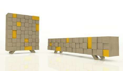 Eco-Conscious Cubic Cabinets