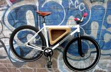 Triangular Cycle Shelves - The Bedford Ave Bike Rack is Customizable to Each Bicycle