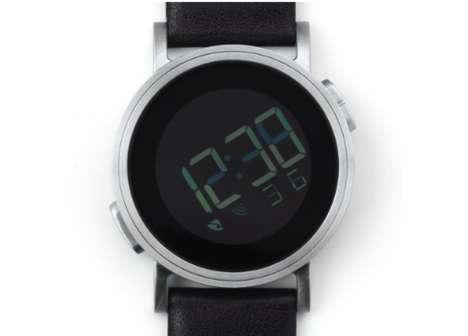 Tilted Digital Timepieces