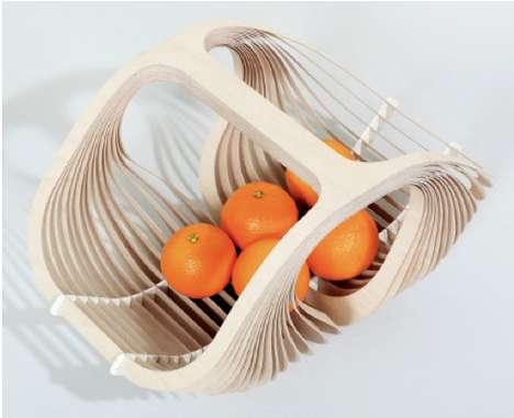 Delicate Birch-Leaf Baskets