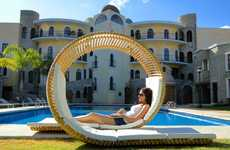 Snail-Like Outdoor Seating - The Loopita Bonita Lounger is a Coiled Recliner for Couples
