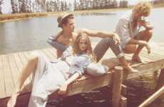 Hazy Laid-Back Lookbooks - Pull & Bear Spring Campaign Captures a Fun Cottage Lifestyle
