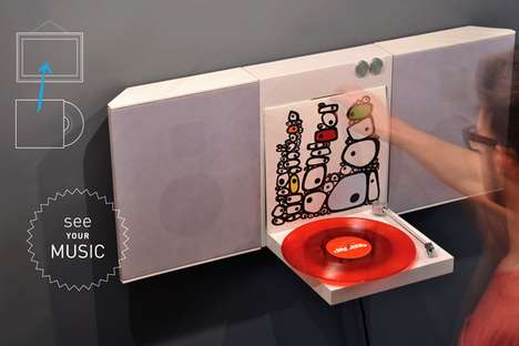 Wall-Mounted Record Players