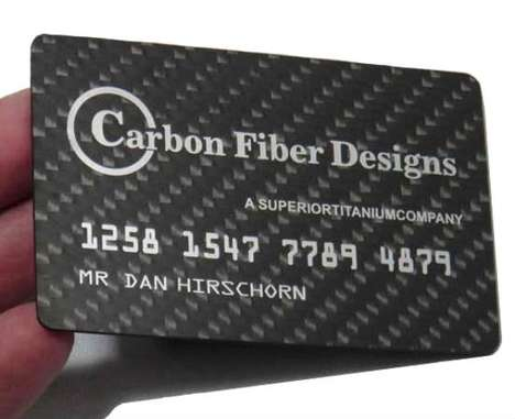 Carbon-Fiber Business Cards