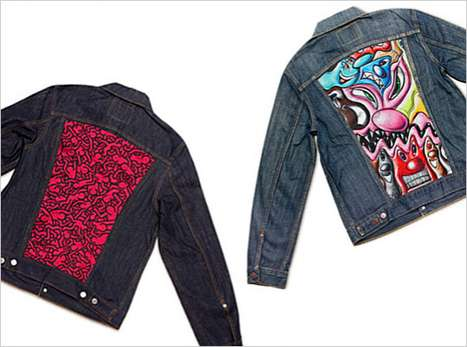 Street Art Fashion - The Levi's x MOCA Trucker Jackets Feature Wicked Graffiti Styles