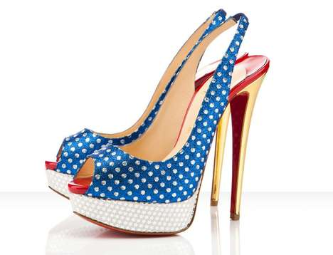 Star-Spangled Stilettos - The Miss America Louboutin Heels are Super Hot