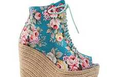 Chic Floral Wedges - These Ego and Greed Bowler Esp Shoes are Perfect for Spring