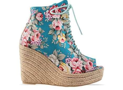 Chic Floral Wedges