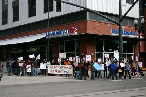 Flash Mob Tax Protests