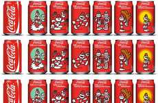 Celebratory Pop Cans - The James Jarvis x Coca-Cola 125th Anniversary Cans are Fun and Quirky