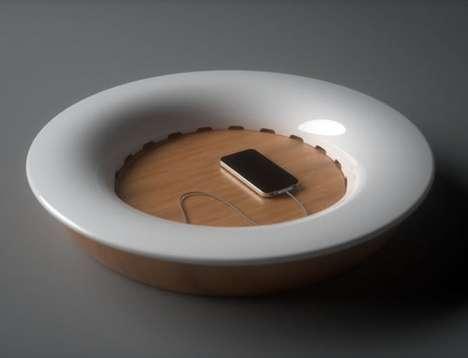 Dish-Like Charging Stations