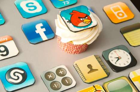 The iPhone Cupcake Toppers are Definitely the Cherry on Top