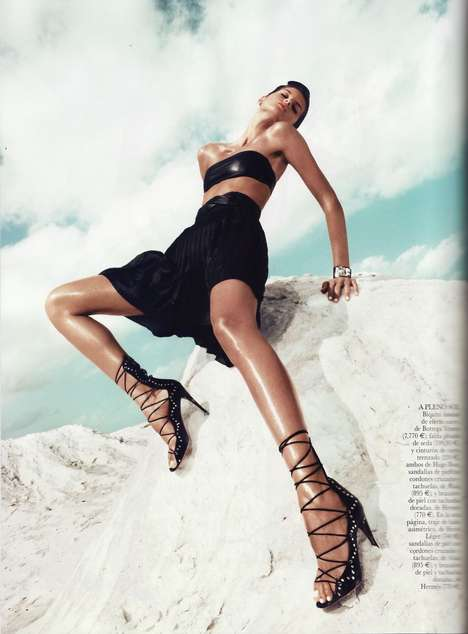 Luscious Leg Photography - Get Your Dose of Sizzle in the Latest Vogue Spain Issue