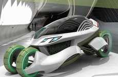 Air-Filtering Pod Cars - The VIERIA Concept Car is a Mobile Air Purifier