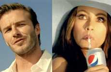 Comedic Cola Campaigns - Sofia Vergara and David Beckham in the Diet Pepsi Beach Tweet Commercial