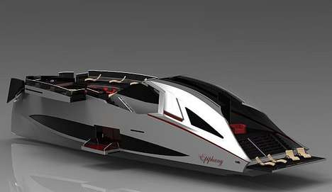 Sports Car-Inspired Yachts - Epiphany is an Ultra-Luxurious Speedy Yacht
