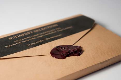 Delicious Postcard Packaging - The Post Chocolate From Lilla Toth is a Sweet Piece of Mail