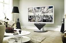 Gigantic Posh TVs - The Bang & Olufsen BeoVision 4-85 3D HDTV is for the Television Fanatic