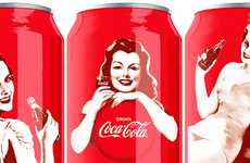 Pin-Up Pop Branding - Coca-Cola 125th Anniversary Soda Cans Celebrate the Past