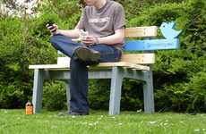 Twitterific Park Benches - The TweetingSeat by Chris McNicholl Connects Online and Offline Worlds