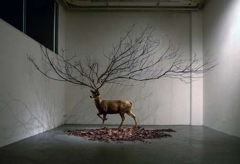 Surreal Nature Sculptures - Myeongbeom Kim Artistically Mixes Elements of Nature and Fantasy