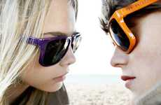 Seashore Shade Ads - The Burberry Brights Eyewear Collection is Cheerful and Summer-Ready