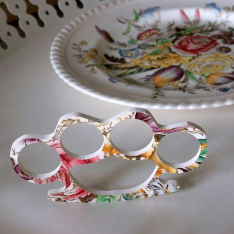 Tea Time Knuckledusters - Juliet Ames Creates Knuckle-Busting Fashion Out of Tea Plates
